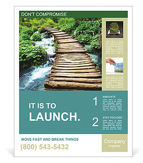 Wooden Bridge Poster Template