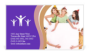 Fun Birthday Party Business Card Template