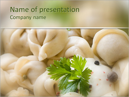Russian Traditional Food PowerPoint Template