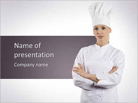 Woman Chef Cook PowerPoint Template & Infographics Slides