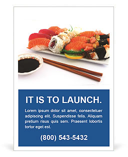 Japanese Traditional Sushi Ad Template