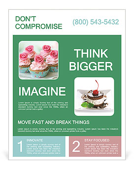 Rose Cupcake Flyer Template