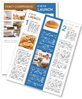 Man With Bread Newsletter Template