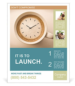 Time For Coffee Poster Template