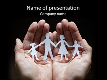 Paper Family Members PowerPoint Template