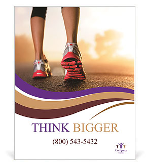 Jogging As Lifestyle Poster Template