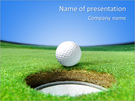 Playing Golf PowerPoint Template & Infographics Slides