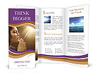 Woman Prays Brochure Template