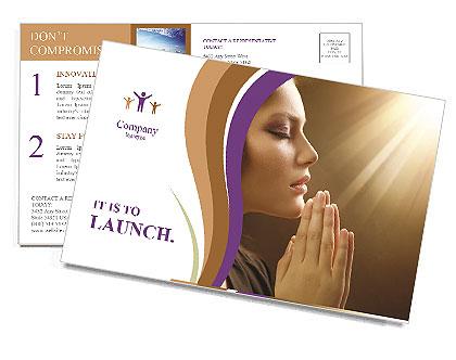 Donna Prega Le cartoline postali
