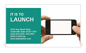 Touch Screen Cell Phone Business Card Template