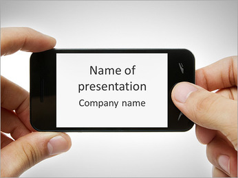 Touch Screen Cell Phone PowerPoint Template