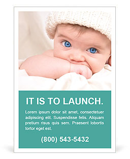 Blue-Eyed Baby Ad Template