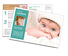 Blue-Eyed Baby Postcard Template
