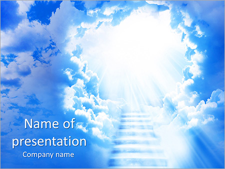 Heaven Stairs Powerpoint Template Infographics Slides