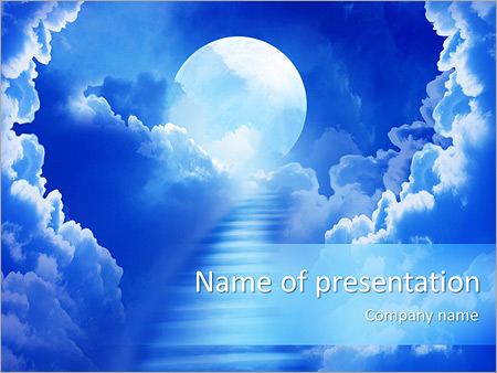 Way To Heaven Powerpoint Template Infographics Slides
