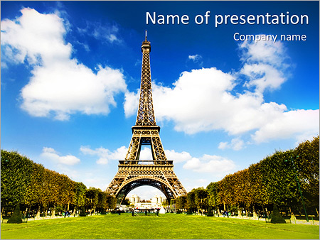 Tour To Paris PowerPoint Template
