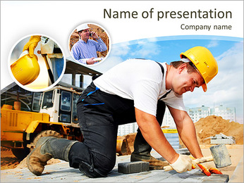 Construction Activities PowerPoint Template