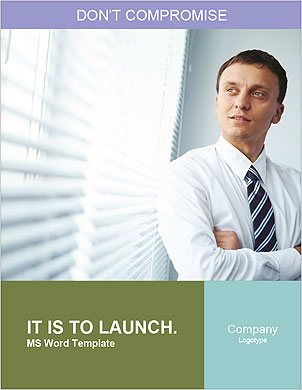 Portrait of a businessman looking at the window Word Template - Page 1
