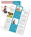 Father With Son Newsletter Template
