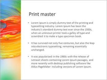 塗装色 PowerPointプレゼンテーションのテンプレート