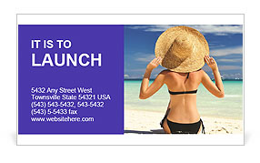 Perfect Summer Vacation Business Card Template