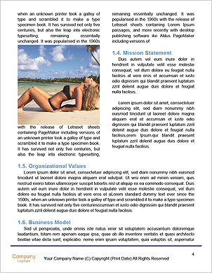 Perfect Summer Vacation Word Template - Page 4