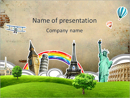 Travel Round The World PowerPoint Template & Infographics Slides