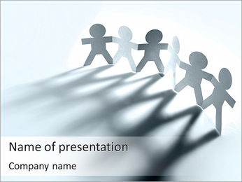 Team Of Paper People PowerPoint Template