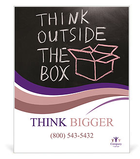 Think Outside The Box Poster Template