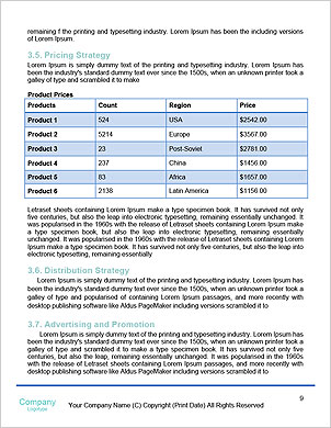 Water Surface Word Template - Page 9