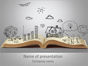 開いたブック PowerPointプレゼンテーションのテンプレート
