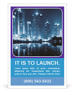 City Blue Light Ad Template