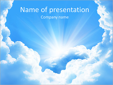 Heaven Light Powerpoint Template Infographics Slides