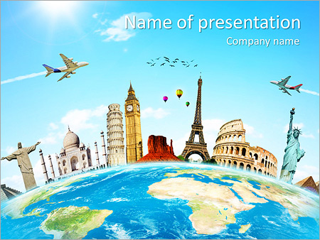 Travel Tour PowerPoint Template & Infographics Slides