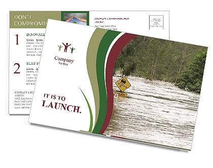 Flood Postcard Template