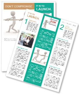 Team Pulls Rope Newsletter Template