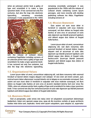 Champagne Bottle Word Template - Page 4