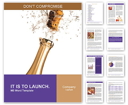 Champagne Bottle Word Template