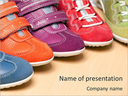 Kids Shoes PowerPoint Template & Infographics Slides
