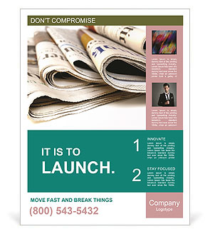Fresh Newspapers Poster Template