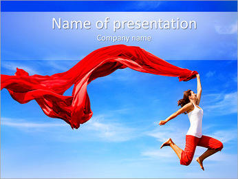 Woman Choreography PowerPoint Template