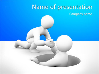 Man In Hole PowerPoint Template