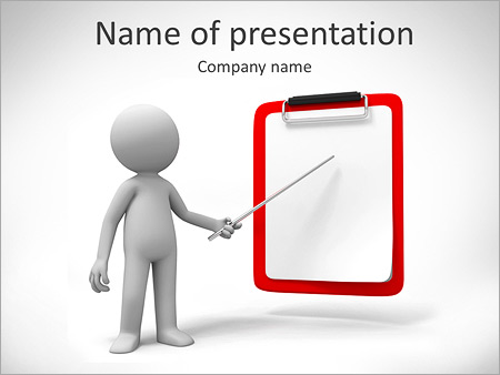 Man Pointing at Board Шаблоны презентаций PowerPoint
