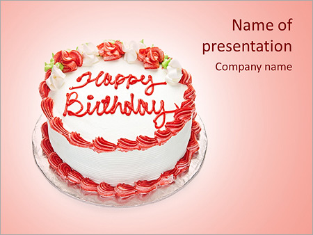 Happy Birthday Powerpoint Template Infographics Slides