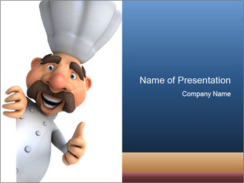 Chef hat - PowerPoint Template - SmileTemplates com
