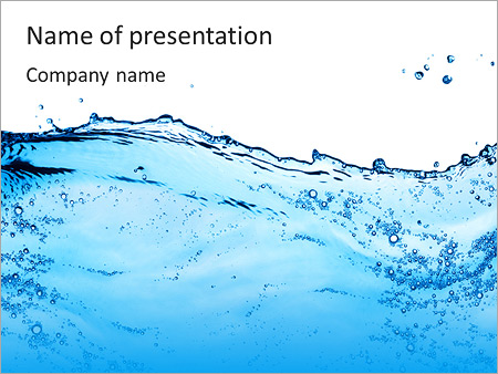 Pure Blue Water Powerpoint Template Infographics Slides