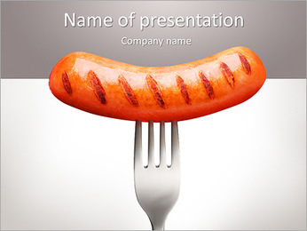 Sausage PowerPoint Template