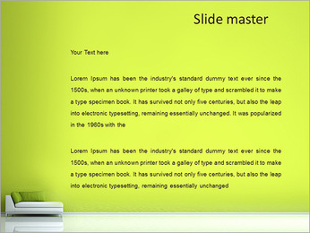Green Waiting Room PowerPoint Template