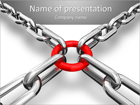 Metal Chain PowerPoint Template