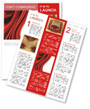 Red Fabric Newsletter Template